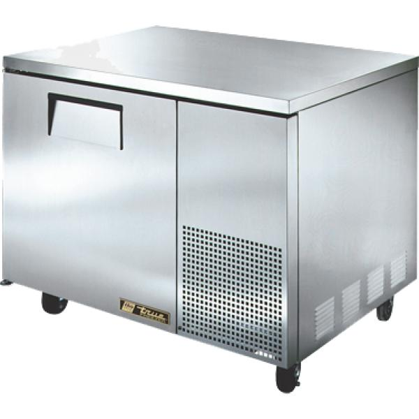 "True Refrigeration  45"" Heavy Duty Undercounter Freezer - One Stainless Door"