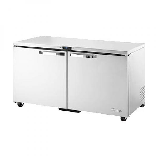 Spec Series Undercounter Freezer Two Stainless Doors ADA - Ada restaurant table
