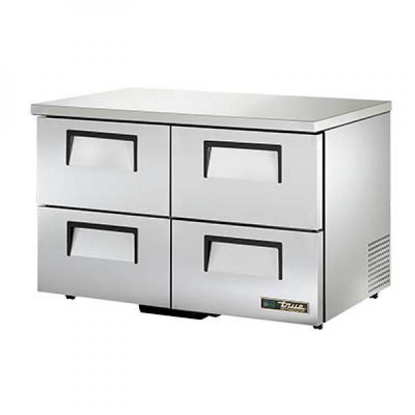 "True Refrigeration TUC48D4LPHC 49"" Undercounter Refrigerator - Four Drawers - Low Profile"