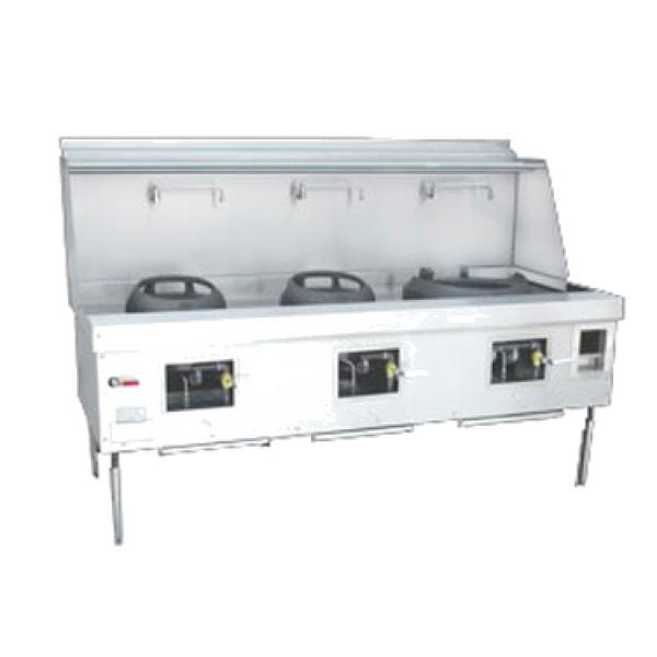 Chinese Restaurant Kitchen Equipment york® wok range, gas, (3) chambers, fiber ceramic insulation