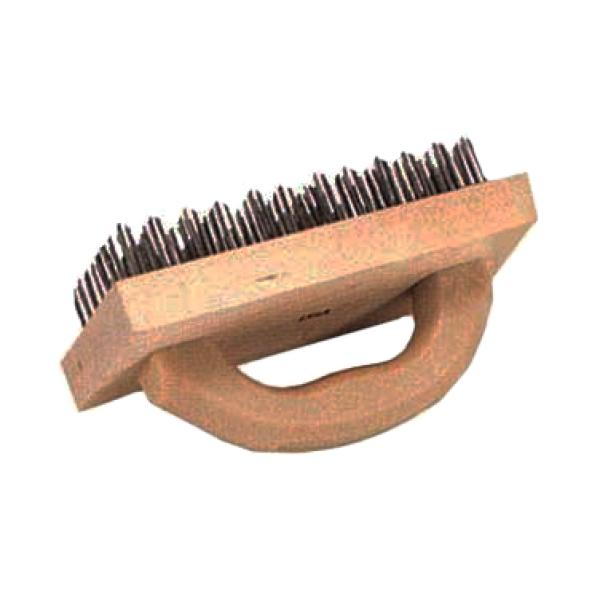 butcher block brush 4 quot x 9 quot flat wire attached to