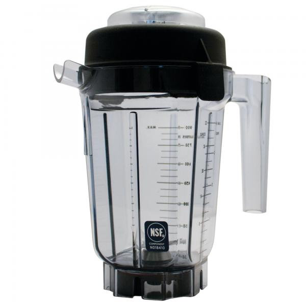 Complete Standard Blender Container,  32 oz. (0.9 liter) capacity, clear BPA Free Tritan container w