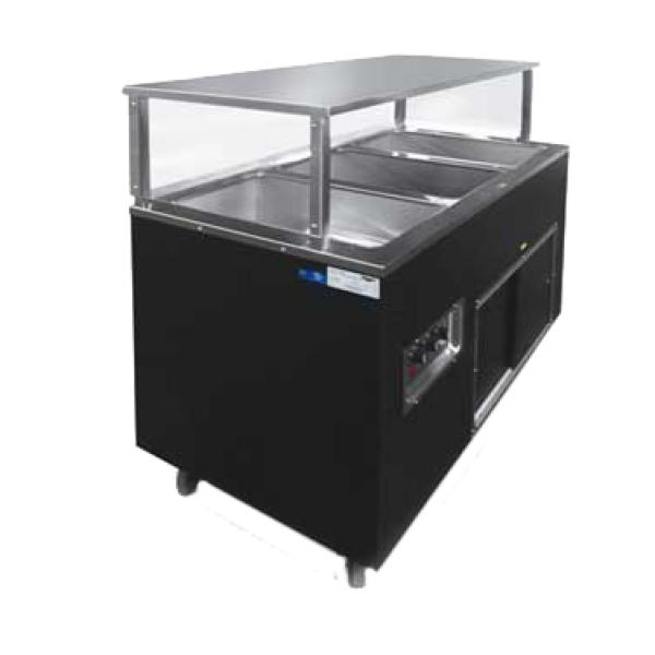 "Affordable Portable™ Hot Food Station, (4) well, 60""W x 24""D x 49""H O.A., with"