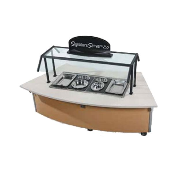 "Vollrath 97312 Signature Server with Laminate or Corian Countertops - 34"" ADA CURVED Frost Top Station Base"