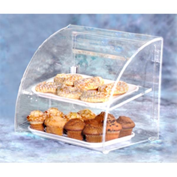 "Vollrath ESBC1 Euro Clear Bakery Case- Small Case holds 2- 10"" x 14"" trays"