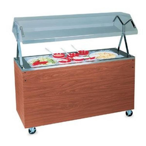 "Affordable Portable™ Cold Food Station, non-refrigerated, (4) pan, 60""W x 24""D x 49"