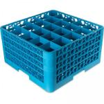 "OptiClean Dishwasher Glass Rack, 25-compartments (3-1/2"" x 3-1/2"") with (4) extender"