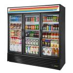 True Refrigeration 3 Section Glass Door Merchandiser Refrigerators image
